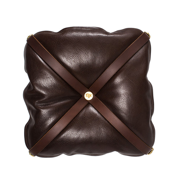 IL BISONTE - Wooden Stool with Cowhide Seat - Brown - MAN of the WORLD Online Destination for Men's Lifestyle - 6