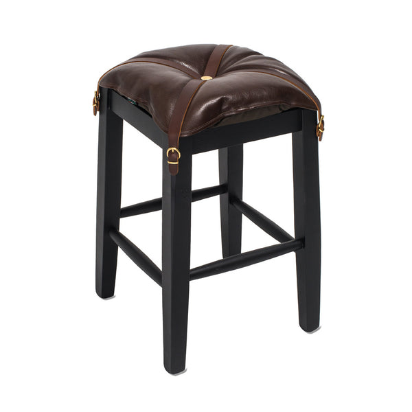 IL BISONTE - Wooden Stool with Cowhide Seat - Brown - MAN of the WORLD Online Destination for Men's Lifestyle - 7