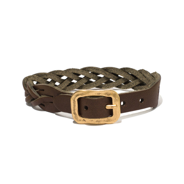 IL BISONTE - Cowhide Woven Bracelet - Brown - MAN of the WORLD Online Destination for Men's Lifestyle - 1
