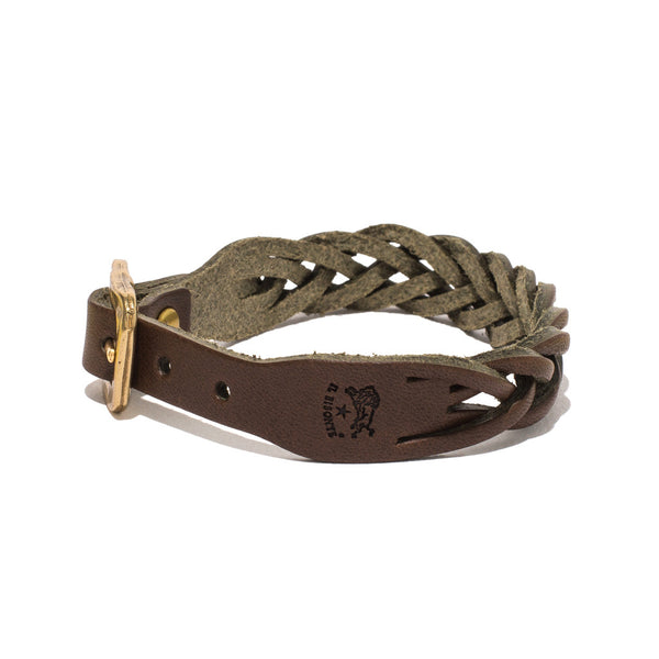 IL BISONTE - Cowhide Woven Bracelet - Brown - MAN of the WORLD Online Destination for Men's Lifestyle - 4