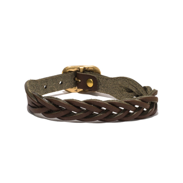 IL BISONTE - Cowhide Woven Bracelet - Brown - MAN of the WORLD Online Destination for Men's Lifestyle - 2