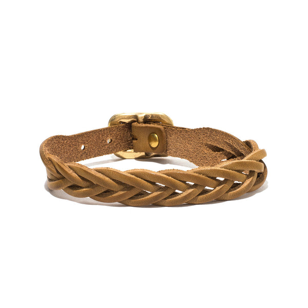 IL BISONTE - Cowhide Woven Bracelet - Tan - MAN of the WORLD Online Destination for Men's Lifestyle - 4