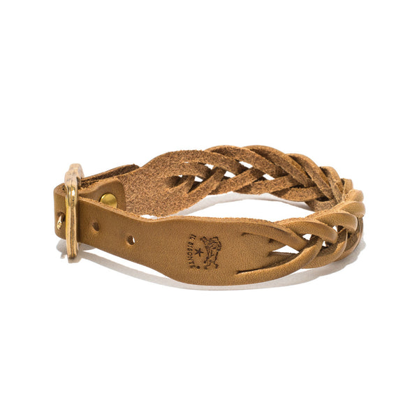 IL BISONTE - Cowhide Woven Bracelet - Tan - MAN of the WORLD Online Destination for Men's Lifestyle - 2