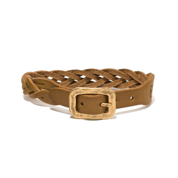 IL BISONTE - Cowhide Woven Bracelet - Tan - MAN of the WORLD Online Destination for Men's Lifestyle - 1
