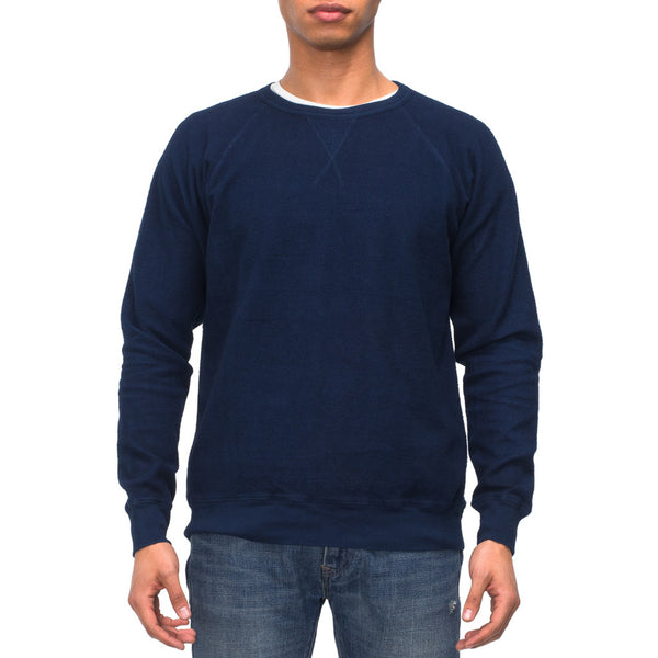 Reversed Fleece Sweatshirt - 12 Dips Indigo