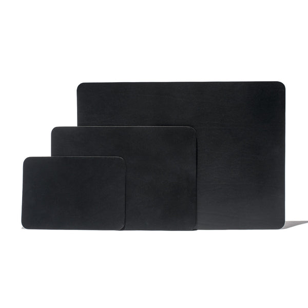 Black Leather Mouse Pad