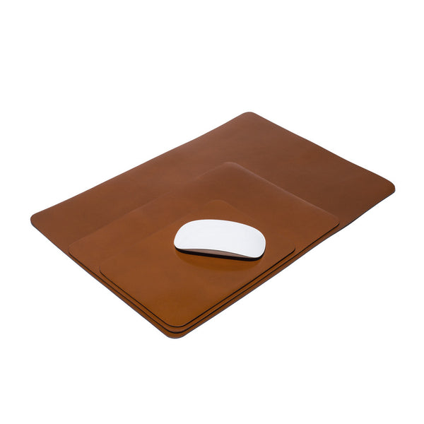 Dark Honey Leather Mouse Pad