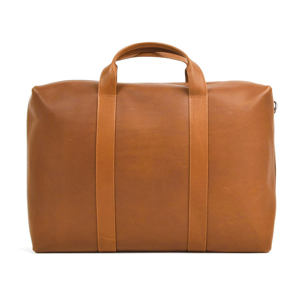 Leather Briefcase - Dark Honey