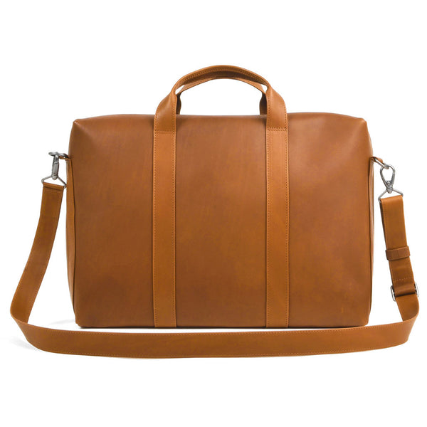 ISAAC REINA - Leather Briefcase - Dark Honey - MAN of the WORLD Online Destination for Men's Lifestyle - 3
