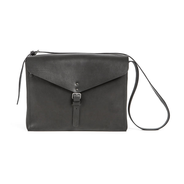 Leather Gabriel Messenger - Charbon