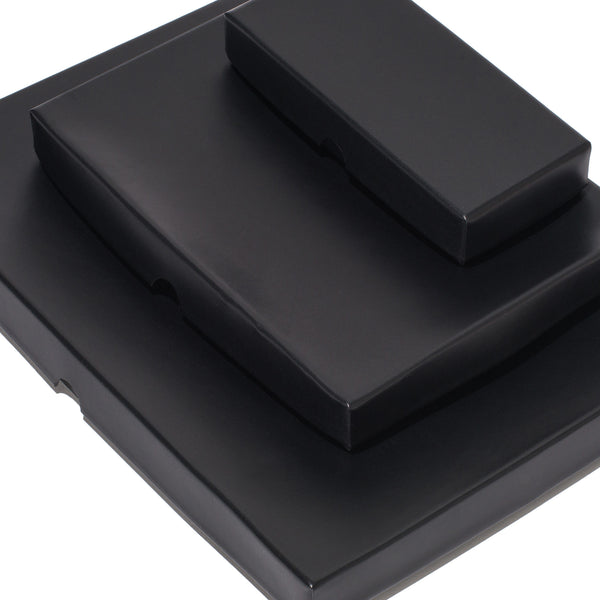 Leather Lid Box - Black