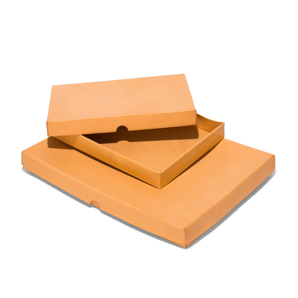 Leather Lid Box - Natural