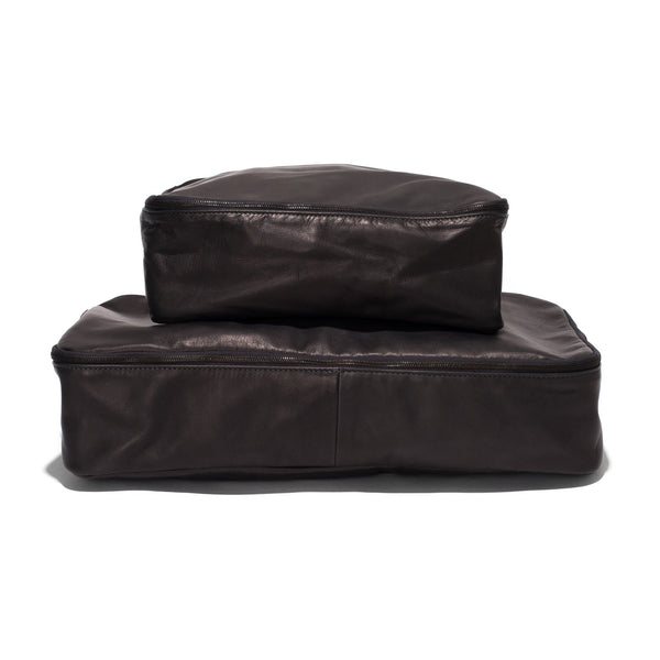 Soft Leather Garment Case - Charbon