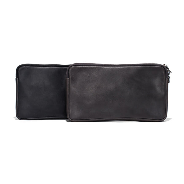 Leather Travel Belt Pocket - Black