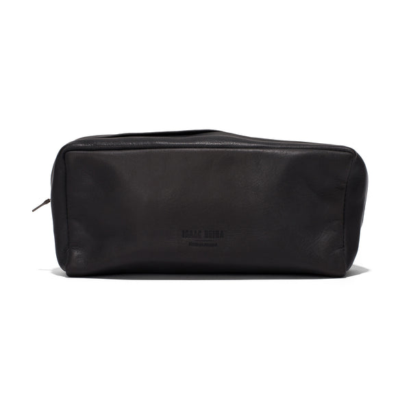Leather Travel Pouch - Charbon