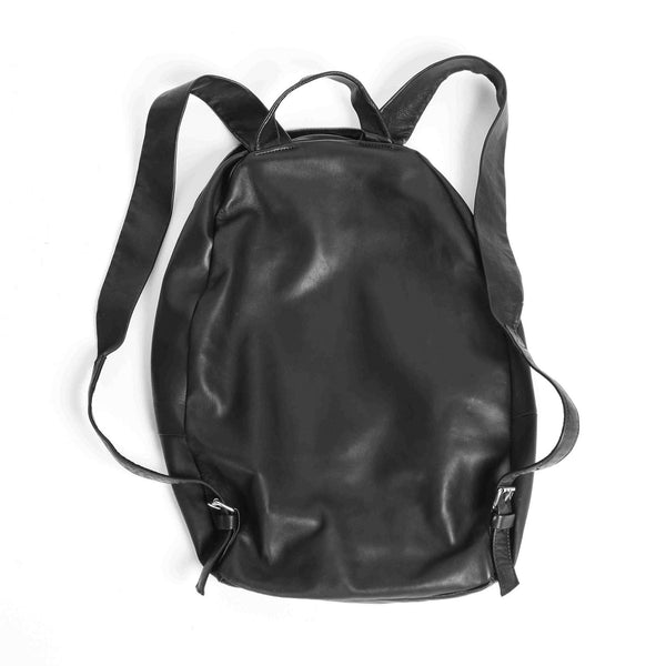 Ultra Soft Leather Backpack - Charbon