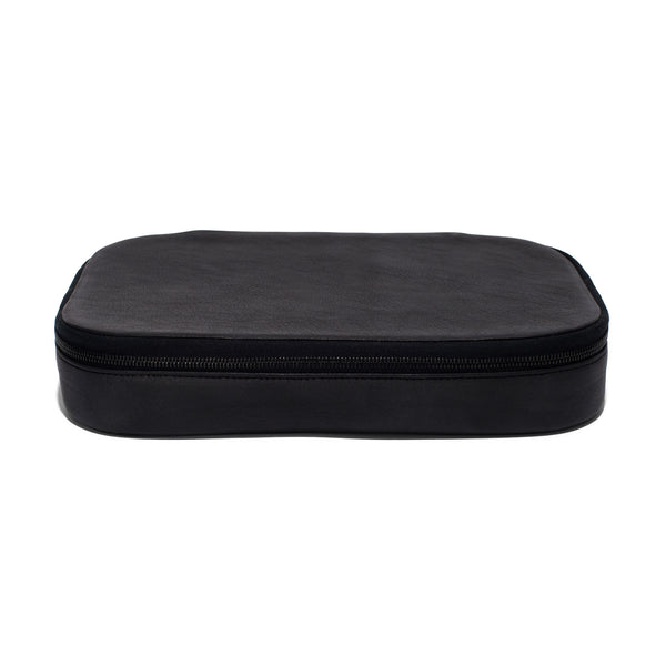Leather Zip Top Cases - Black