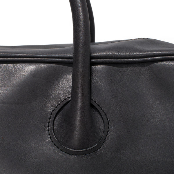 Leather Bonded Satchel - Charbon