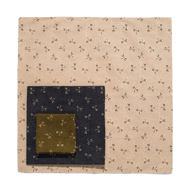 Japanese Cotton Pocket Square - Dragonfly Print