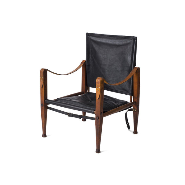 Safari Chair - Black Leather