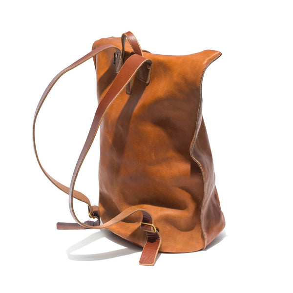 Kika NY - Brown Leather Duffel Backpack - MAN of the WORLD Online Destination for Men's Lifestyle - 4