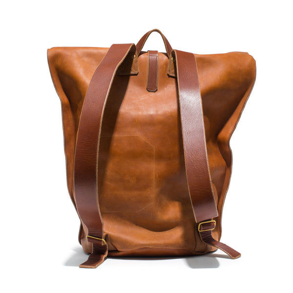 Kika NY - Brown Leather Duffel Backpack - MAN of the WORLD Online Destination for Men's Lifestyle - 2