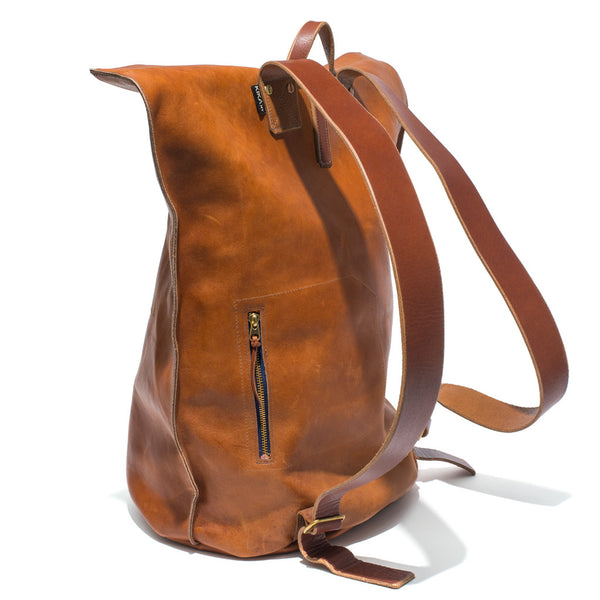 Kika NY - Brown Leather Duffel Backpack - MAN of the WORLD Online Destination for Men's Lifestyle - 3