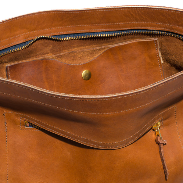 Kika NY - Brown Leather Duffel Backpack - MAN of the WORLD Online Destination for Men's Lifestyle - 8