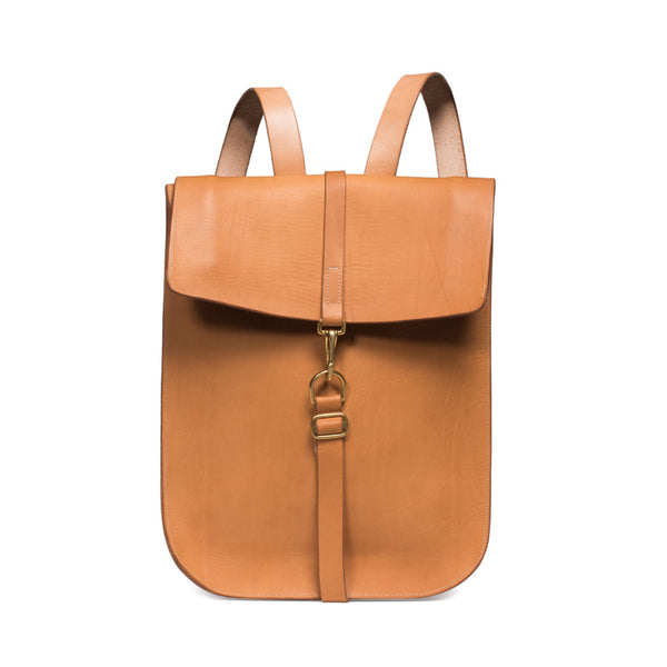 Fold Top Backpack - Natural