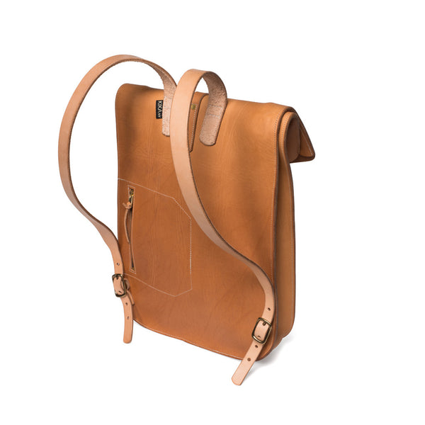 Kika NY - Fold Top Backpack - Natural - MAN of the WORLD Online Destination for Men's Lifestyle - 3
