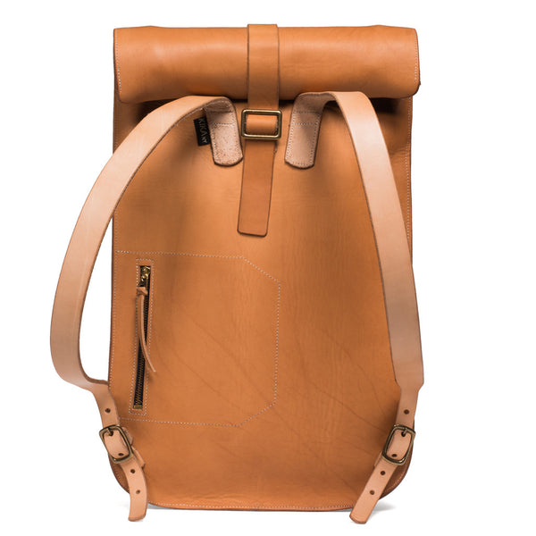 Kika NY - Roll Top Backpack - Natural - MAN of the WORLD Online Destination for Men's Lifestyle - 2