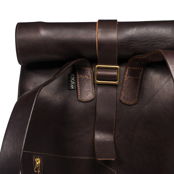 Kika NY - Roll Top Backpack - Walnut - MAN of the WORLD Online Destination for Men's Lifestyle - 7