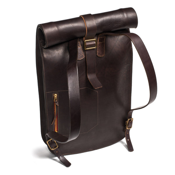 Kika NY - Roll Top Backpack - Walnut - MAN of the WORLD Online Destination for Men's Lifestyle - 3