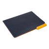 MAN OF THE WORLD - Leather Folder - Navy & Yellow - MAN of the WORLD Online Destination for Men's Lifestyle - 3