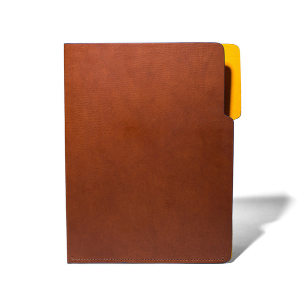 MAN OF THE WORLD - Leather Folder - Brown & Yellow - MAN of the WORLD Online Destination for Men's Lifestyle - 2