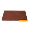 MAN OF THE WORLD - Leather Folder - Brown & Yellow - MAN of the WORLD Online Destination for Men's Lifestyle - 3