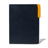 MAN OF THE WORLD - Leather Folder - Navy & Yellow - MAN of the WORLD Online Destination for Men's Lifestyle - 2