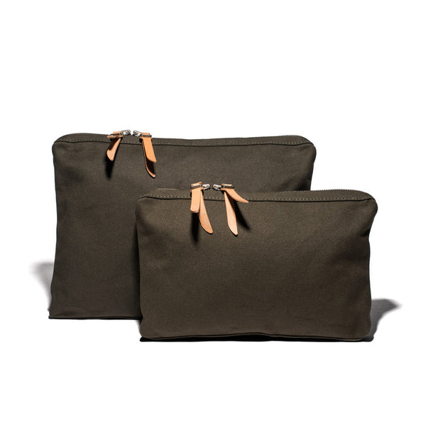 Army Green Canvas Organizational Pouch