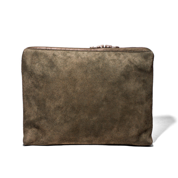 MAKR - Large Suede Organizational Pouch - MAN of the WORLD Online Destination for Men's Lifestyle - 1