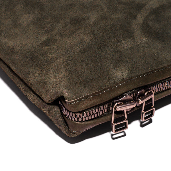 MAKR - Large Suede Organizational Pouch - MAN of the WORLD Online Destination for Men's Lifestyle - 3