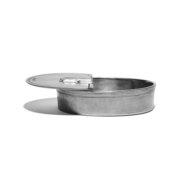 Match Pewter - Oval Lidded Cigar Ashtray - MAN of the WORLD Online Destination for Men's Lifestyle - 4
