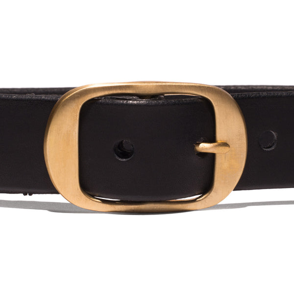 Medium Oval Buckle Belt - Black