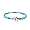 MIKIA - Round Beaded Turquoise Bracelet - MAN of the WORLD Online Destination for Men's Lifestyle - 3