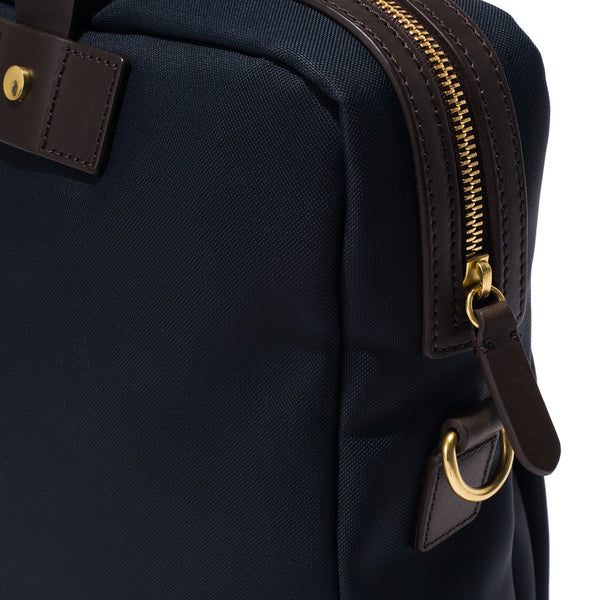 Mismo - Briefcase - Navy Canvas & Dark Brown Leather - MAN of the WORLD Online Destination for Men's Lifestyle - 11