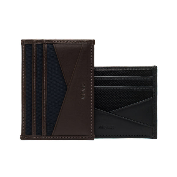 Nylon & Leather Cardholder