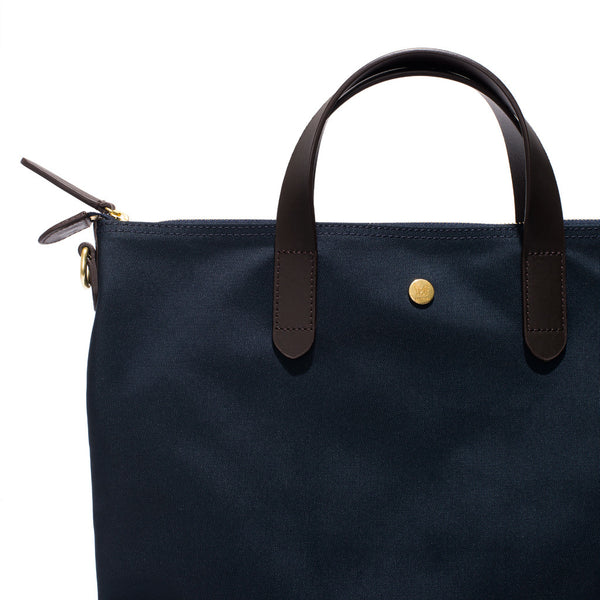 Mismo - Original Shopper - Navy Canvas & Dark Brown Leather - MAN of the WORLD Online Destination for Men's Lifestyle - 6