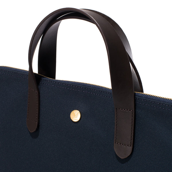 Mismo - Original Shopper - Navy Canvas & Dark Brown Leather - MAN of the WORLD Online Destination for Men's Lifestyle - 7