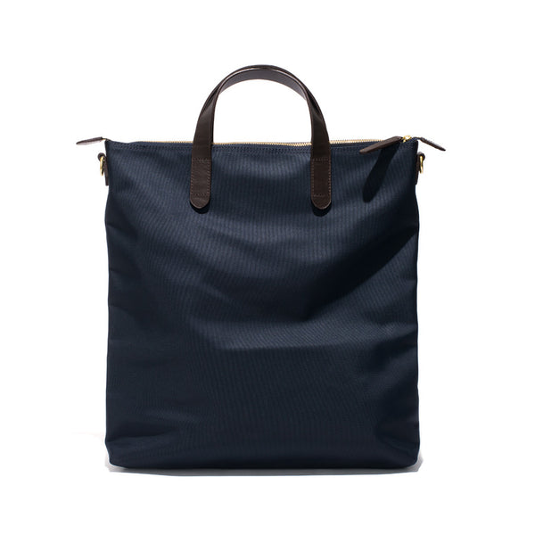 Mismo - Original Shopper - Navy Canvas & Dark Brown Leather - MAN of the WORLD Online Destination for Men's Lifestyle - 3