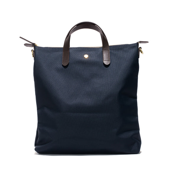 Mismo - Original Shopper - Navy Canvas & Dark Brown Leather - MAN of the WORLD Online Destination for Men's Lifestyle - 2