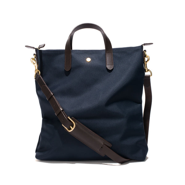 Original Shopper - Navy Canvas & Dark Brown Leather